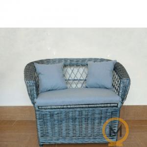 juguetero de mimbre artesanal color azul