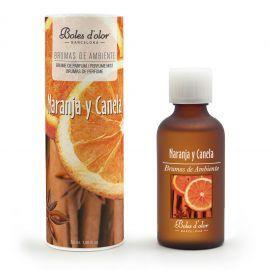bruma canela y naranja