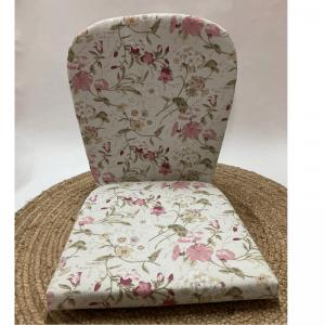 cojin asiento y respaldo para sillon de mimbre de la abuela