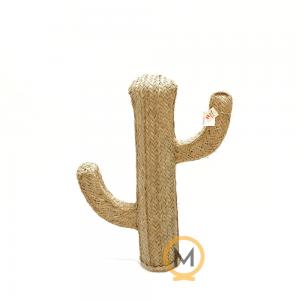 cactus natural de esparto hecho a mano